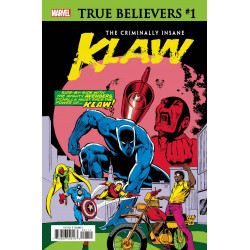TRUE BELIEVERS CRIMINALLY INSANE KLAW