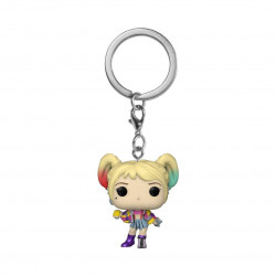 HARLEY QUINN (CAUTION TAPE) BIRDS OF PREY POCKET POP! VINYL KEYCHAIN