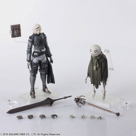 NIER AND EMIL NIER REPLICANT BRING ARTS PACK 2 ACTION FIGURES