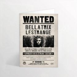 WANTED BELLATRIX LESTRANGE HARRY POTTER LENTICULAIRE CARTE DE VOEUX