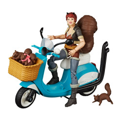 SQUIRREL GIRL MARVEL LEGENDS SERIES FIGURINE AVEC VEHICULE 15 CM