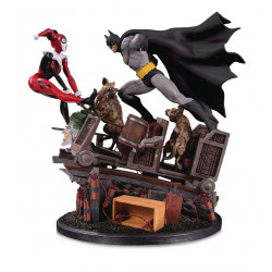 BATMAN VS HARLEY QUINN BATTLE DC COMICS STATUE