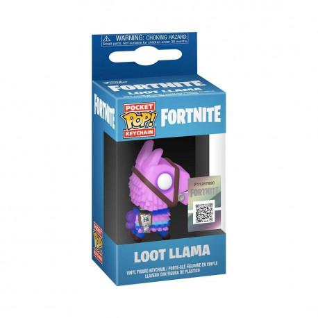 LOOT LLAMA POCKET POP FORTNITE KEYCHAIN