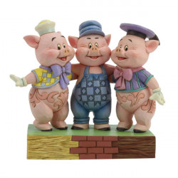 SQUEALING SIBLINGS THREE LITTLE PIGS DISNEY TRADITION STATUE