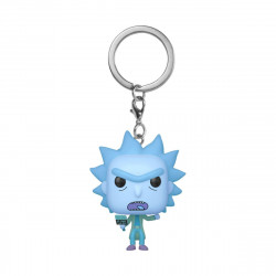 HOLOGRAM RICK CLONE RICK & MORTY PORTE-CLES POCKET POP! VINYL KEYCHAIN 4 CM