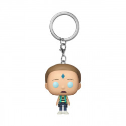 DEATH CRYSTAL MORTY RICK & MORTY PORTE-CLES POCKET FUNKO POP! VINYL KEYCHAIN 4 CM