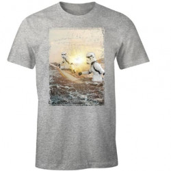 TROOPER SURF HOLIDAY STAR WARS T-SHIRT SIZE S