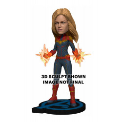 CAPTAIN MARVEL AVENGERS: ENDGAME HEAD KNOCKER STATUE