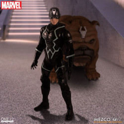 BLACK BOLT & LOCKJAW MARVEL UNIVERSE FIGURINES ONE:12 LUMINEUSE 17 CM