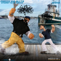 POPEYE FIGURINES 1 12 POPEYE BLUTO STORMY SEAS AHEAD DELUXE BOX SET