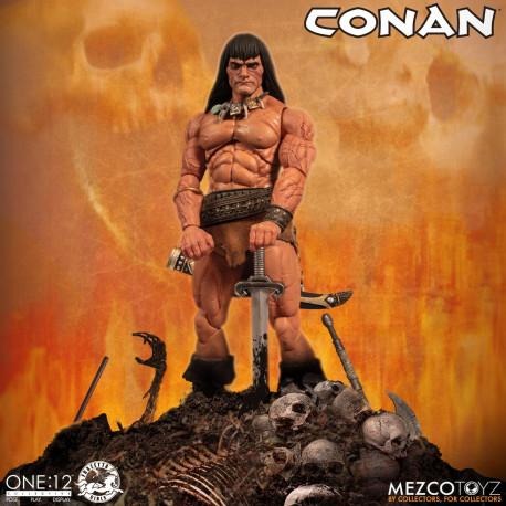 CONAN LE BARBARE FIGURINE ONE:12 CONAN 17 CM