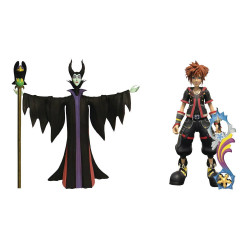 KINGDOM HEARTS 3 SELECT PACK 2 FIGURINES MALEFICENT SORA 18 CM