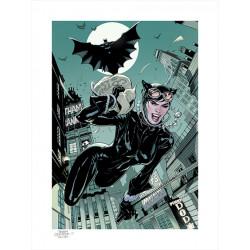 DC COMICS IMPRESSION ART PRINT THE GETAWAY BATMAN CATWOMAN 46 X 61 CM - NON ENCADR E