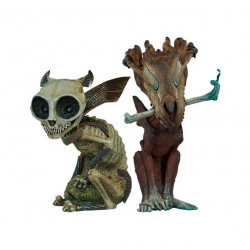 COURT OF THE DEAD PACK 2 STATUETTES COURT CRITTERS COLLECTION SKRATCH RIAZZ