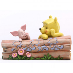 POOH AND PIGLET TRUNCATED CONVERSATION DISNEY RESIN STATUE