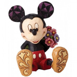 MICKEY WITH FLOWER DISNEY TRADITIONS STATUE