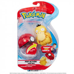 POKEMON POKEBALL ACTION SETS AVEC PELUCHES PSYKOKWAK
