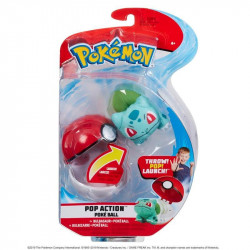 POKEMON POKEBALL ACTION SETS AVEC PELUCHES BULBIZARRE