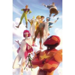 LEGION OF SUPER HEROES 6 CARD STOCK ALEX GARNER VAR ED