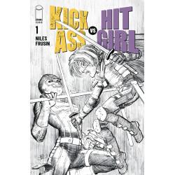 KICK-ASS VS HIT-GIRL 1 CVR B B W ROMITA JR