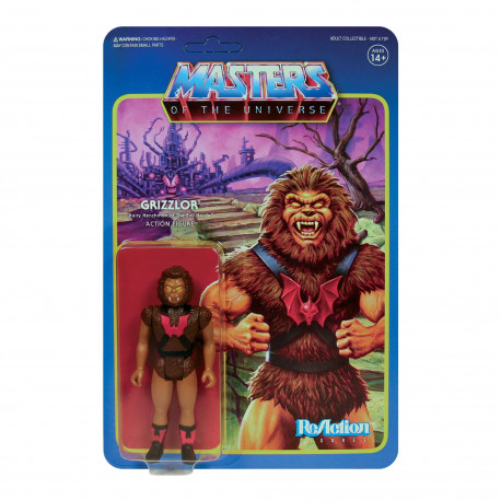 GRIZZLOR MASTERS OF THE UNIVERSE WAVE 5 FIGURINE REACTION 10 CM