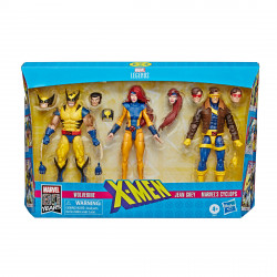 X-MEN WOLVERINE, JEAN GREY & CYCLOPS MARVEL LEGENDS 80TH ANNIVERSARY PACK 3 FIGURINES 15 CM
