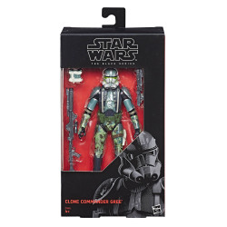 CLONE COMMANDER GREE STAR WARS EPISODE III BLACK SERIES FIGURINE 2017 EXCLUSIVE 15 CM