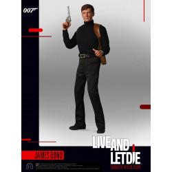 ROGER MOORE JAMES BOND VIVRE ET LAISSER MOURIR FIGURINE COLLECTOR FIGURE SERIES 30 CM