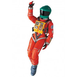 2001, L'ODYSSEE DE L'ESPACE FIGURINE MAF EX SPACE SUIT GREEN HELMET & ORANGE SUIT VER. 16 CM