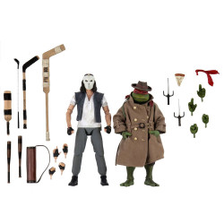 LES TORTUES NINJA PACK 2 FIGURINES CASEY JONES RAPHAEL IN DISGUISE 18 CM