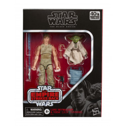 LUKE & YODA JEDI TRAINING STAR WARS BLACK SERIES DELUXE FIGURE 2 PACK