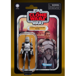 CLONE COMMANDER WOLFFE STAR WARS CLONE WARS VINTAGE 3.75 10 CM ACTION FIGURE
