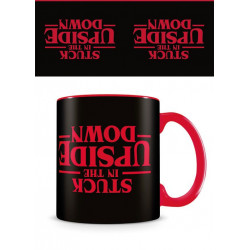 STRANGER THINGS MUG STUCK IN THE UPSIDE DOWN