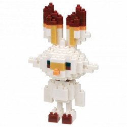 SCORBUNNY FLAMBINO HOPPLO NANOBLOCK POKEMON BUILDING BLOCK SET
