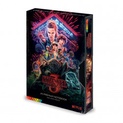 STRANGER THINGS CARNET DE NOTES PREMIUM A5 VHS (S3)