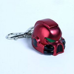 WARHAMMER 40K PORTE-CLES METAL SPACE MARINE MKVII HELMET BLOOD ANGELS