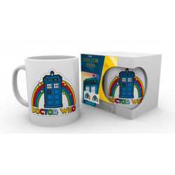 RAINBOW TARDIS DOCTOR WHO MUG