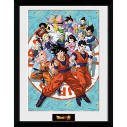 DRAGON BALL SUPER UNIVERSE GROUP POSTER ENCADRE 45 X 34 CM