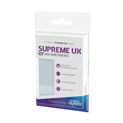 ULTIMATE GUARD 50 POCHETTES SUPREME UX 3RD SKIN SLEEVES TAILLE STANDARD TRANSPARENT