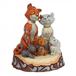 ARISTOCHATS CARVED BY HEART DISNEY TRADITIONS STATUE