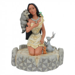 BRAVE BEAUTY POCAHONTAS DISNEY TRADITIONS STATUE