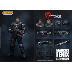 GEARS OF WAR 5 FIGURINE 1/12 MARCUS FENIX 16 CM