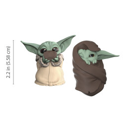 THE CHILD SIPPING SOUP AND BLANKET-WRAPPED STAR WARS MANDALORIAN BOUNTY COLLECTION PACK 2 FIGURINES