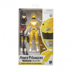 YELLOW RANGER POWER RANGERS LIGHT COLL MMPR ACTION FIGURE 15 CM