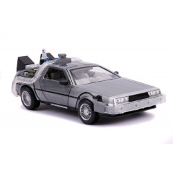 TIME MACHINE BACK TO THE FUTURE METAL HOLLYWOOD RIDES DIE CAST CAR