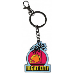 NIGHT CITY CYBERPUNK 2077 KEYCHAIN