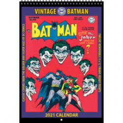 BATMAN VINTAGE DC COMICS 2021 WALL CALENDAR