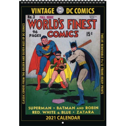 WORLD S FINEST COMICS VINTAGE DC COMICS 2021 WALL CALENDAR