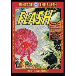FLASH VINTAGE DC COMICS 2021 WALL CALENDAR