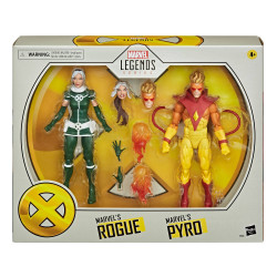 MARVELS ROGUE & MARVELS PYRO X-MEN MARVEL LEGENDS PACK 2 FIGURINES 15 CM